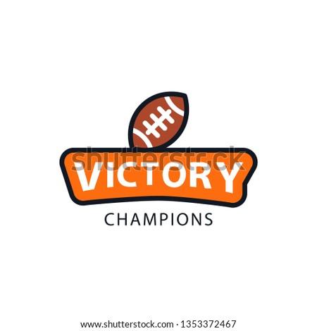 American football badge tournament champion winner vector isolated