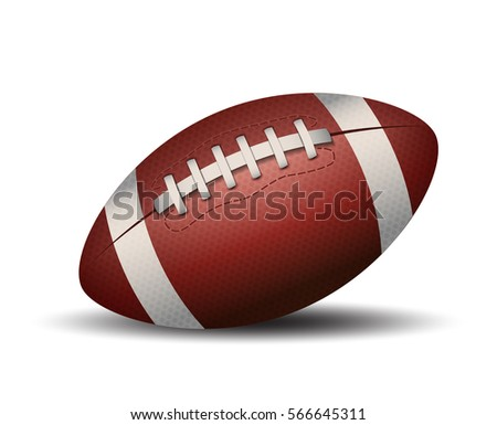 american football ball isolated