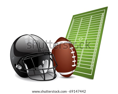 American football design elements. Vector