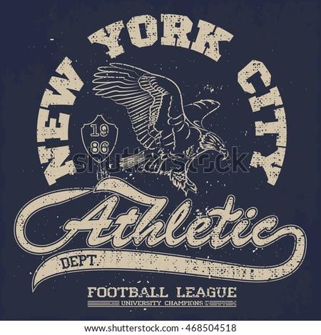 american football  eagle tee