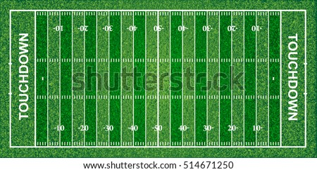 American football field, texture, vector illustration. File contains transparencies