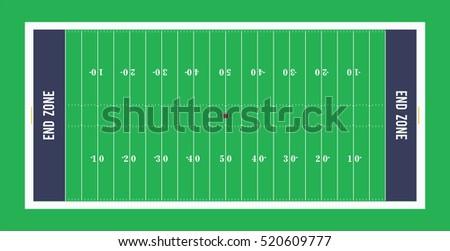 american football field top