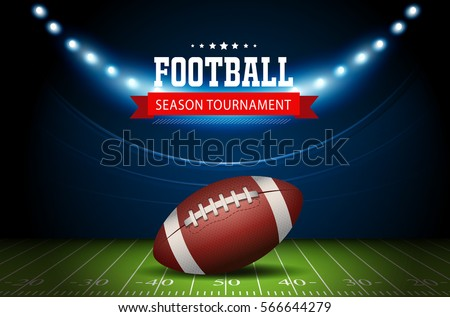 american football field with