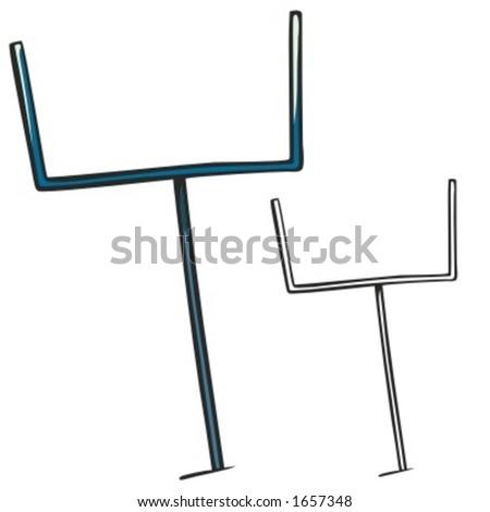 American football goal post. Vector illustration
