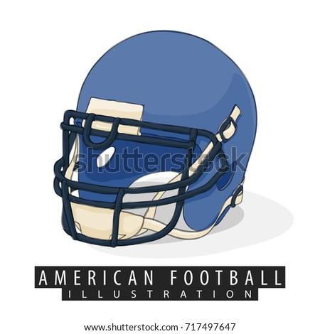 american football helmet close