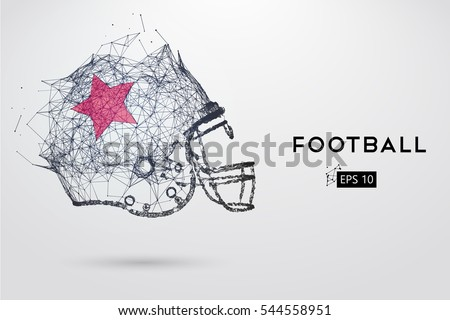 stock-vector-american-football-helmet-in-black-dots-lines-triangles-text-color-effects-and-background-on-a