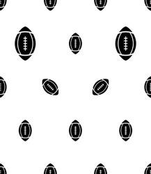 American Football Icon Seamless Pattern, Elliptical Shape Football Icon Vector Art Illustration