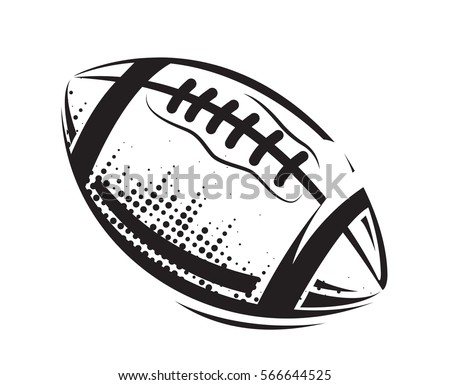 American Football icons ball isolated on a white background. Vector Illustration design. Rugby sport.