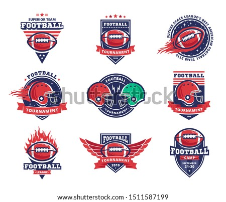 american football logo  emblem