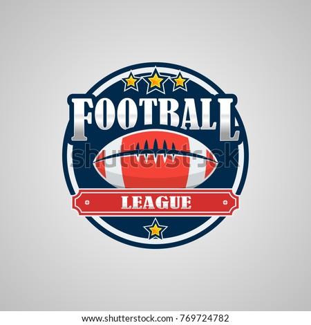 american football logo template