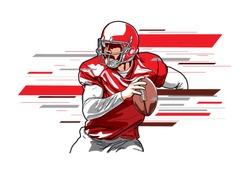 American football player3