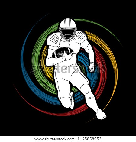 american football player action
