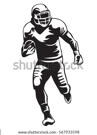 Royalty Free American Football Players Vector 285070424 Stock