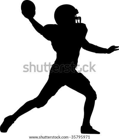 american football player throwing the ball
