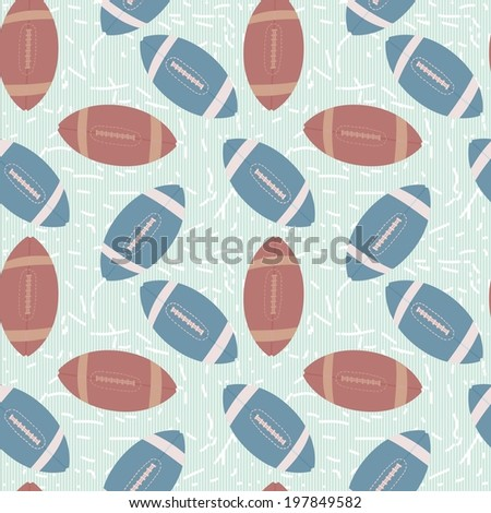 American football sketch seamless pattern background