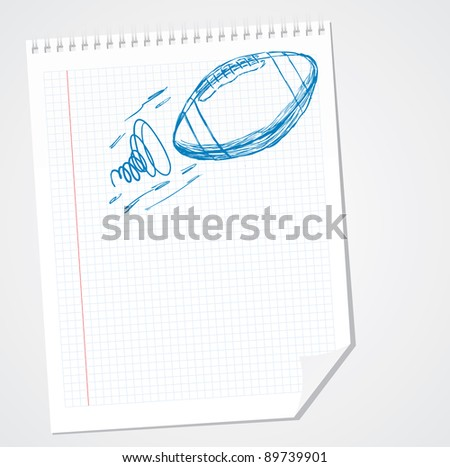 American football sports illustration Doodle