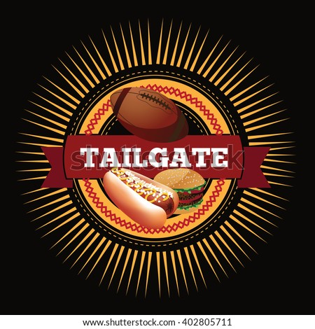 american football tailgate