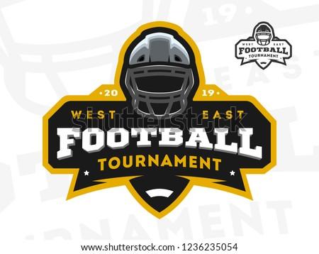 American Football tournament emblem, logo.