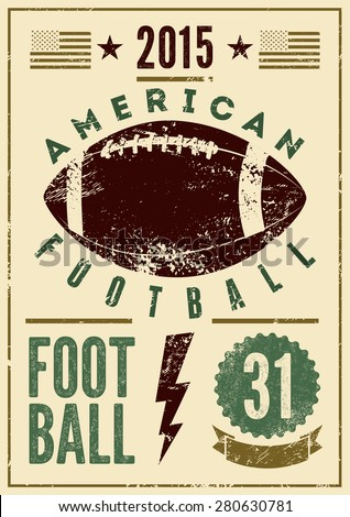 american football typographical