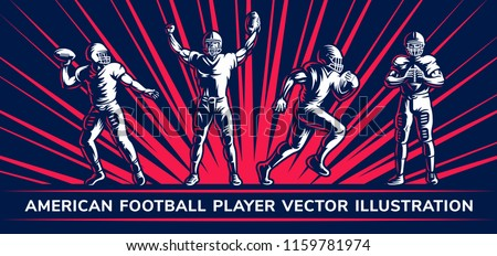 american football vector player