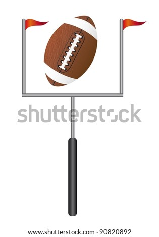 american football with goal post isolated vector illustration