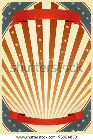 American Fourth Of July Banners/ Illustration of a grunge fourth of july summer holidays poster. Use it as a  background for national holidays, circus announcement or entertainment events