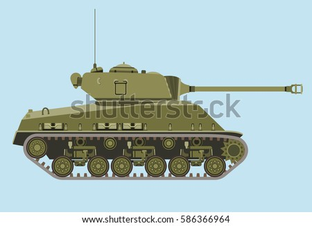 american green medium tank m4