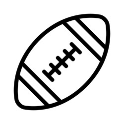 American gridiron football flat vector icon for sports apps and websites