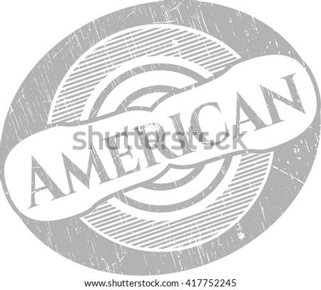 American grunge style stamp