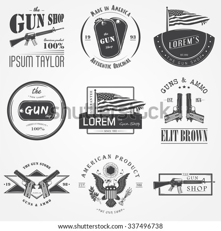 american gun shop set firearms