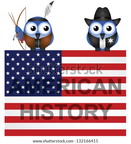 American History Flag isolated on white background