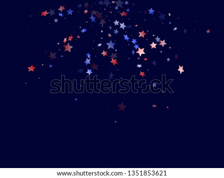 501e3c4c0fe American Independence Day stars background. Holiday confetti in US flag  colors for President Day.