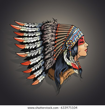 american indian girl in
