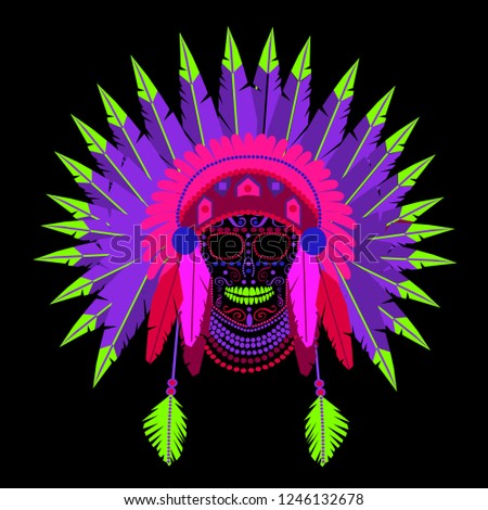 84ed59ce5 Vector Indian War Bonnet - Download Free Vector Art, Stock Graphics ...