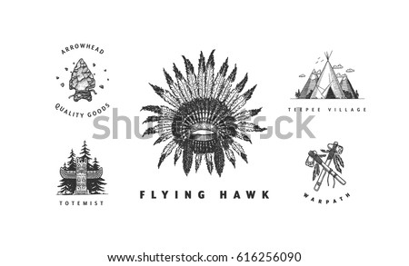 american indian vector logos...