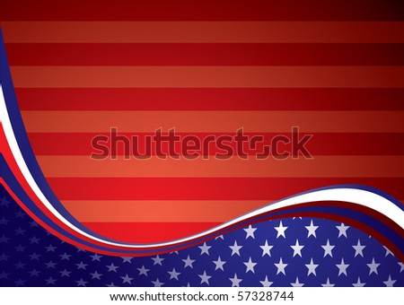American inspired background illustration with stars and stripes