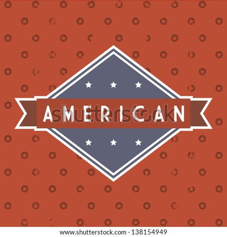 american label over red background. vector illustration