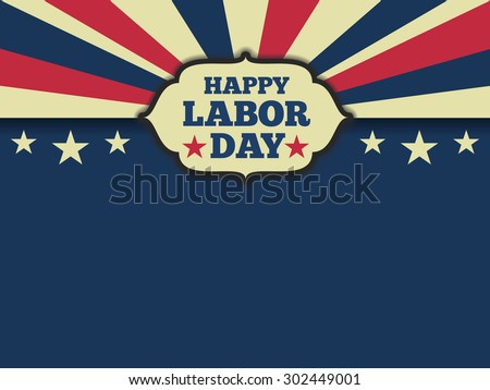 American labor day horizon background. Vector illustration aspect ratio 4/3