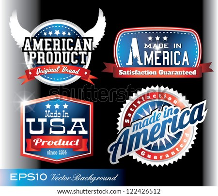 american made in usa retro vintage old school labels