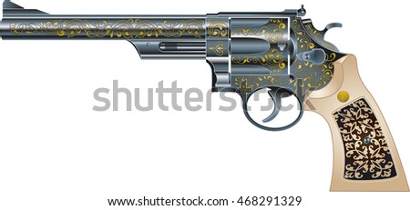 american magnum revolver with