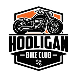 American Motorcycle Club Logo Design Vector Isolated. Ready made logo template set vector isolated