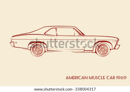 american muscle car silhouette