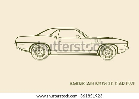 Two Classic Car Yellow And Green Color Ez Canvas