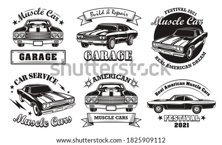 american muscle cars set