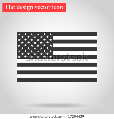 American National official political flag. icon flat design. vector illustration #417294439