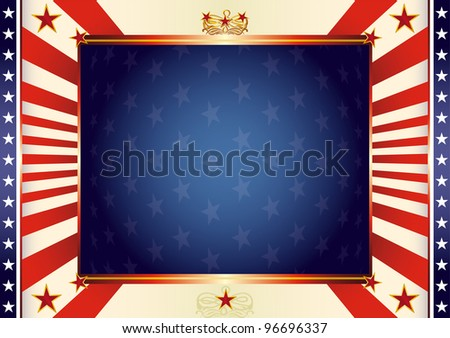American patriotic background. An american background for your advertising.
