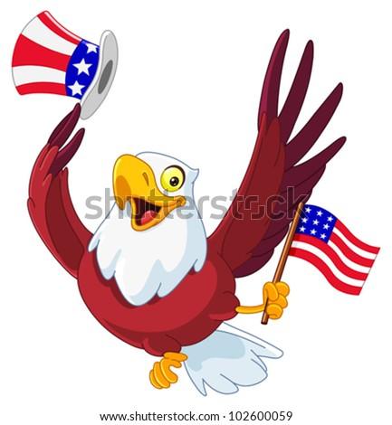 American patriotic eagle