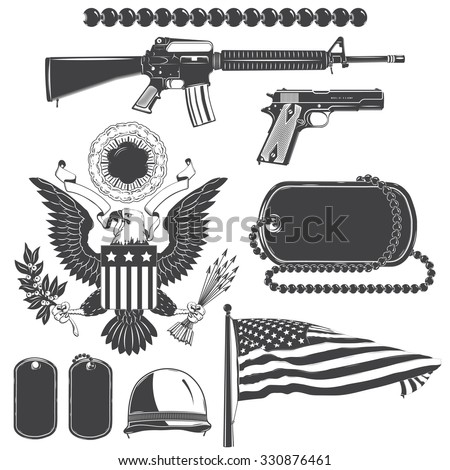 american patriotic elements set