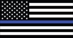 American police flag vector