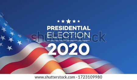 American Presidential Election 2020 background design. Vector illustration EPS10 Stockfoto ©